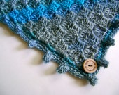 Hand Crocheted Blanket - Beautiful Colors of the Sea