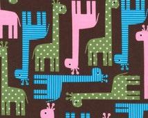 Giraffes in Garden, Urban Zoologie Collection by Anne Kelle, Robert Kaufman Fabrics, 1 Yard