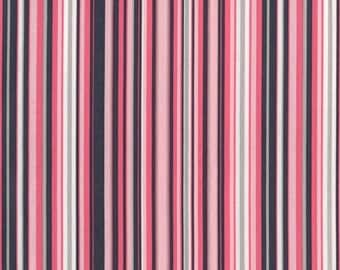 Michael Miller Fabric, Play Stripe in Bloom, 1 Yard Total