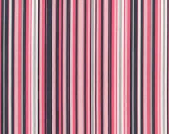 Michael Miller Fabric, Play Stripe in Bloom, 1 Yard Total