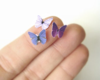 Boho Tattoo - Temporary Tatoo - Floral Temporary Tattoo - Purple Tattoo - Butterfly Tattoo - Fake Tatoo - Tiny Butterfly Makeup