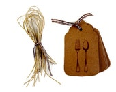 "Gift Tags    Kraft Tags  Hang Tags   Set of 12  Time to Feast  Approx. 4"" x 2 1/4"""