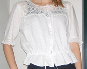 RESERVED FOR LIZA - 1900s victorian crochet and cotton camisole