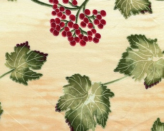 Red Berry and Green Leaves - Timeless Treaures - 1 short yard  - Last Available