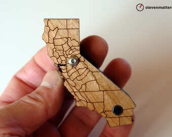 California Pipe with County Lines - Cherry
