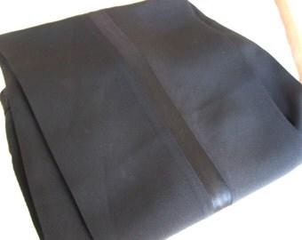 Vintage Tuxedo Pants High Waist Satin Trim Jet Black For Your Victor Victoria Look