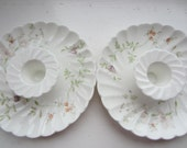 Two Sweet Wedgwood Ceramic Candle Holders