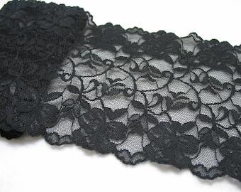 5.5' wide, 1 yd black Stretch lace