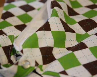 Wet Bag, Dry Bag - Green and Brown Square