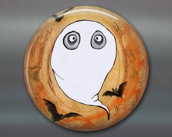 halloween magnet, ghost magnet decor, kitchen decor, halloween decor,  monster fridge magnet, large magnet  MA-1305