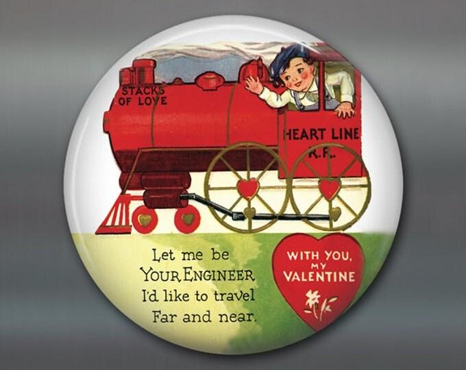 "3.5"" vintage valentine magnet valentine fridge magnet valentines day gift large magnet school valentine card MA-1372"