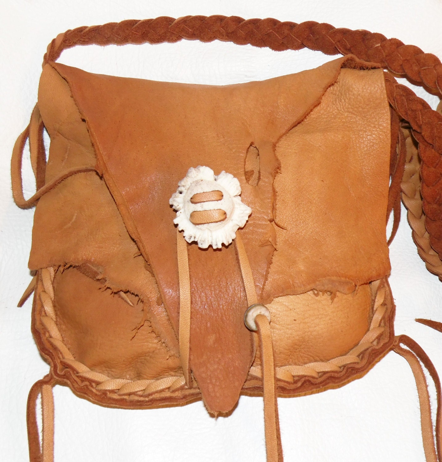leather possibles bag mountain by leatherbaglady