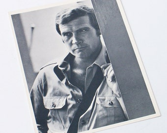 The Fall Guy Lee Majors 1980s TV Series Promo Photo Black and White  Studio Copy Hollywood Publicity