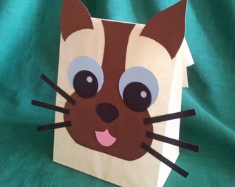 Siamese Cat Treat Sacks - Kitten Kitty Farm Pet Theme Birthday Party Favor Bags by jettabees on Etsy