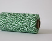 Peapod Green & White Bakers Twine - 10 metres - Perfect for Gift Wrapping or Crafts