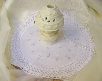 White Crochet Centerpiece, Hand Crochet, Table Topper, Doily, Doilie, Lace, Lacy, Home Decor, Accent