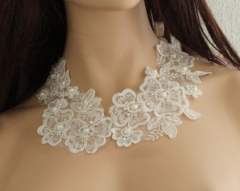 Lace Collar Necklace, lace bridal necklace, Collar Necklace,