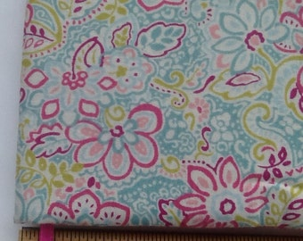 Pink, green and blue floral Paperback padded Cover