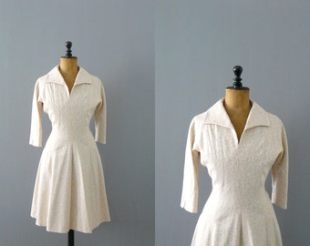 Vintage 1950s wedding dress. 50s brocade wedding dress