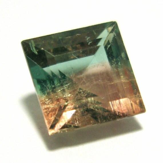 watermelon tourmaline princess cut gem 1 4 carats