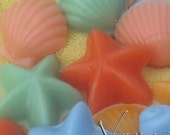Sea Shell shaped Scented  Candle Wax Tart  - You Choose Scent