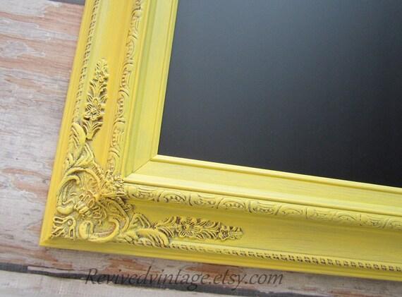 lavagna magnetica per vendita 31 x 27 cucina decor parete organizer incorniciato giallo