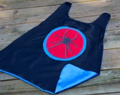 SPIDER Boy Cape - Black Red and Blue Cape - Fast Shipping - Spider Halloween ostume - superhero cape - Spider party theme
