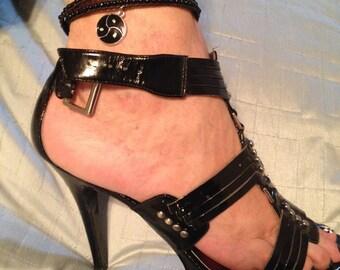 BDSM Jewelry Anklet, Bracelet or Necklace Triskelion Symbol