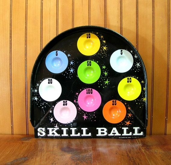 Skill Ball Tray Game Vintage Home Decor by VintageHardware