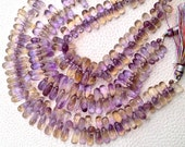 Amazing Rare AMETRINE Micro Faceted Drops,9-11mm Long, SUPERB AAA Quality, 1/2 Strand.Great Item