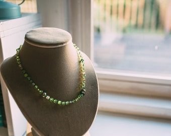 Lime Green Crystal Necklace