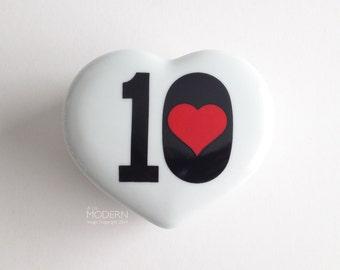 Takahashi Japan Ten of Hearts Numerals Trinket Box