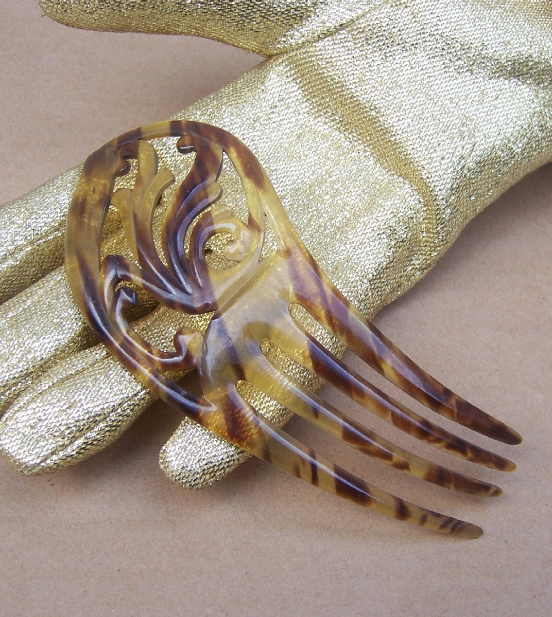 Decorative hair comb victorian faux tortoiseshell spanish comb - Decorative hair slides ...