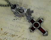 Ruby Red CRUX Necklace