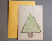 Christmas Tree Card Machine embroidery from an original design