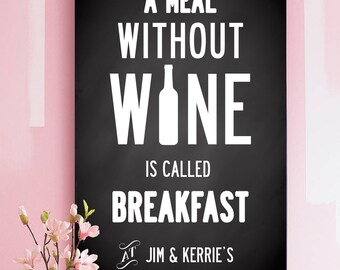 For all Wine lovers - Wine quote design personalized design with your name / names. Luxury poster. Medium A3, 30x42 cm.