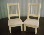 Handmade Doll Chairs-Set of 2-for 18 inch doll