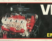 Vintage 1977 Visible V-8 Engine Revell H-902 motorized 1/4 scale model kit visible mechanical moving parts   Car or Truck Motor made in USA