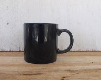 Vintage Navy Blue Coffee Mug