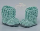 Snuggly ugg set, crochet hat and bootie set, ugg booties, slouch and bootie set, crochet baby set, crochet baby gift, crochet gift, Baby Set