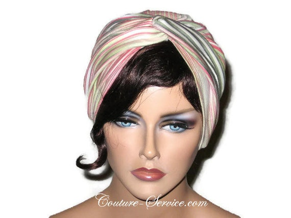 Turban <b>corail, vert</b>, crème, chapeau Turban, Turban complet, Turban rayé, - il_570xN.642593361_s9ch
