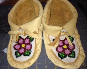 beaded moccasin slippers for women