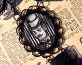 Debonair Victorian Gentleman and his Manly Moustache Original Art Pendant