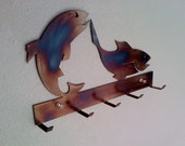 Fish Key Rack Metal Wall Art Hanging