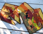 Celebrate Autumn 13x50 brightly colored quilted tablerunnerRESERVE