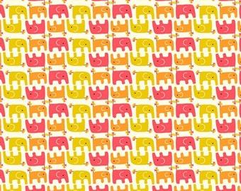Organic Cotton Fabric - Birch Frolic - Ellie Stagger Girl