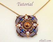 Tutorial Pendant Eterno - Beading tutorial, Beading pattern, instant download, PDF, Jewelry Tutorials