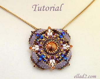 Tutorial Pendant Eterno - Beading tutorial, Beading pattern, instant download, PDF, Jewelry Tutorials