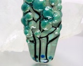 Handmade lampwork trees focal bead by Vanessa Hearn SRA UK - The Forest