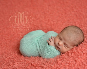 Mint Green Stretch Knit Wrap Newborn Photography Prop